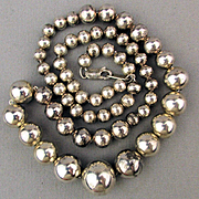 Always Classy Sterling Silver Bead Necklace