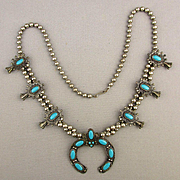 Vintage Faux Squash Blossom Necklace