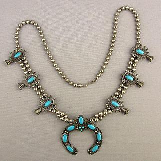 Vintage Faux Squash Blossom Necklace