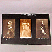 1920 Scrapbook Page 6 Real Photo Postcards Roumanian Royalty