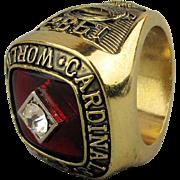 1982 St. Louis Cardinals World Series Championship Souvenir Ring
