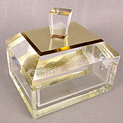 Modernist Acrylic Lucite Covered Box - Thick Deluxe Version
