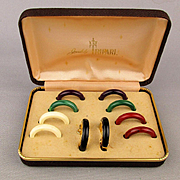Trifari Interchangeable Hoop Earrings Set Clipback 1970s
