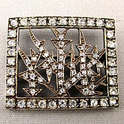 Vintage MMA / FBS 925 Sterling Silver Crystal Brooch Pin Metropolitan Museum of Art