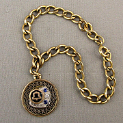 Vintage Gold-Filled Bell Telephone Charm Bracelet w/ Gems