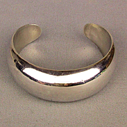Los Ballesteros Taxco Sterling Silver Cuff Braclet