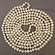 100 Inch Semi-Baroque Cultured Pearl Necklace 10mm 8 Ft. Long