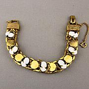 Vintage Bevy of Beauties Glass Cameo Girl Bracelet