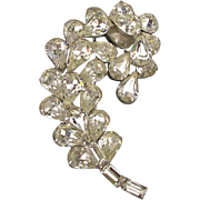 Vintage Kramer of New York Rhinestone Crystal Pin Brooch