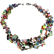 Great Big ~ Kitchen Sink of Beads ~ Bead Necklace Glass Lucite Metal Everything