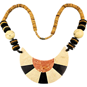 Big Tribal Multi Stone Pendant Bead Necklace