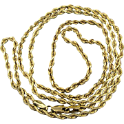 Estate 14K Yellow Gold Chain Necklace 24 Inch Twister