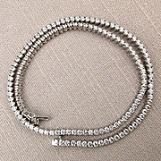 Vintage 18 Inch CZ Crystal Sterling Silver Chain Necklace