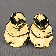 1981 Joanne Cooper for Ciner Bold Modernist Earrings