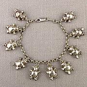 Sterling Silver Alunno Stendardi Charm Bracelet - BEARS