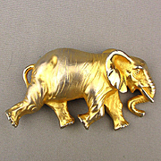 Great Big Doreen Ryan Elephant Belt Buckle - Figural Pachyderm