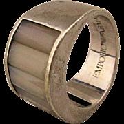 Estate ARMANI Sterling Silver Ladies Ring w/ Gemstones