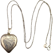 Sterling Silver Double Heart Locket Necklace Room for 4