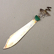Peruvian Sterling Silver Letter Opener Alcatraz Bird Nazca Lines Souvenir