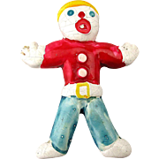 1970s Original MR. BILL Figural Pin SNL Clay Character Brooch