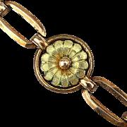 1940s Signed DIANA Gold-Filled Link Bracelet by Krementz