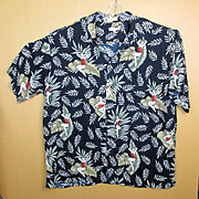Pierre Cardin Rayon Hawaiian Aloha Shirt Pin-Up Girls 3XLT