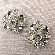 K.J.L. Avon Faux Diamond Rhinestone Earrings