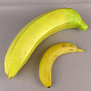 Big Oversized Figural Yellow Banana Fruit Vintage Decor