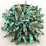 Big Native American Turquoise Nugget Necklace - 132 Grams.
