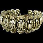 Great 1940s CORO Pegasus Wide Link Bracelet