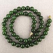 Lush Green jade Bead Necklace