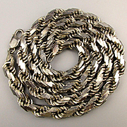 Big Fat Heavy Chunky Sterling Silver Italian Multi Link Chain Necklace 114 Grams