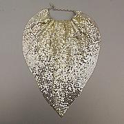 Whiting & Davis Mesh Scarf Necklace Silvertone