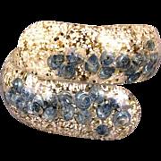 1950s Lucite Confetti - Shells Clamper Bracelet Wraparound