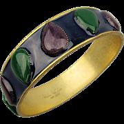 Designer Nicole Miller Enamel Bangle Bracelet