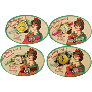1950s ~ My Dolly and I ~ Toy Watch Set on Original Card Japan - 4 Sets