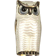 David Andersen Sterling Silver Enamel Owl Pin Brooch Norway