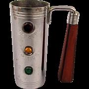 Art Deco Chrome - Bakelite Barware Traffic Light Jigger w/ Handle