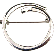 Modernist JOID'ART Spain Sterling Silver Pin Brooch