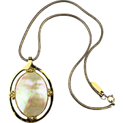 Whiting & Davis Pearly Luminescent Pendant Necklace