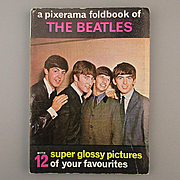 Original 1964 Beatles PIXERAMA Foldout Photo Booklet