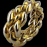 Vintage Emanuel Ungaro Paris Heavy Goldtone Bracelet