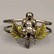 Laton Taxco Sterling Silver Great Grapes Cuff Bracelet