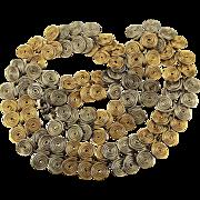 Modernist Sterling Silver Coil Link Necklace