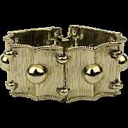 BSK Sleek Silvertone Modernist Bracelet - Ball Bead Links