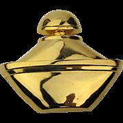 Heavy Goldtone GUERLAIN Paris Perfume Bottle Pin Brooch c1980s