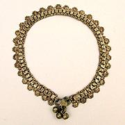 Exotic Tribal Sterling Silver Rajasthan Ankle Bracelet Handmade