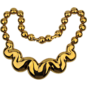 Vintage D'Orlan Knockout Goldtone Necklace Big n Bold