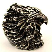 Big Detailed EAGLE Sterling Silver Ring Talons Beak Amazing