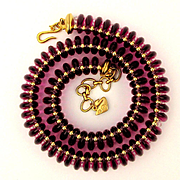 Swarovski Crystal Bead Coil Necklace 1980s Swan Spectacular